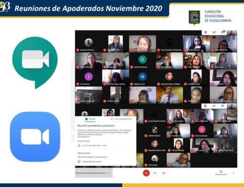 Reunión de Apoderados (Nivel Medio) Noviembre 2020-2