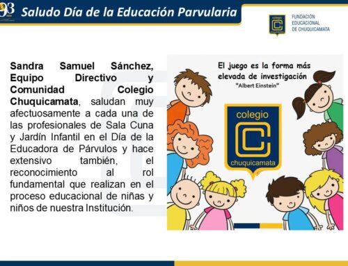 Saludo Día de la Educación Parvularia