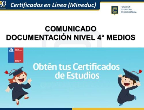 Comunicado Documentación Nivel 4° Medios