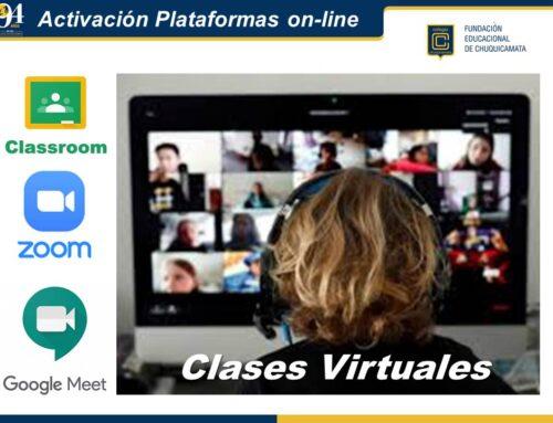 Activación Plataformas on-line Clases Virtuales