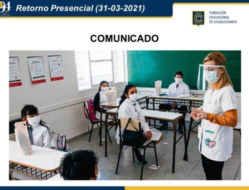 Comunicado Retorno Presencial (31-03-2021)
