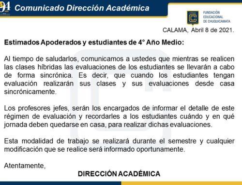 Comunicado Dirección Académica (08-04-2021)