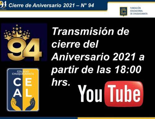 Transmisión de Cierre del Aniversario 2021