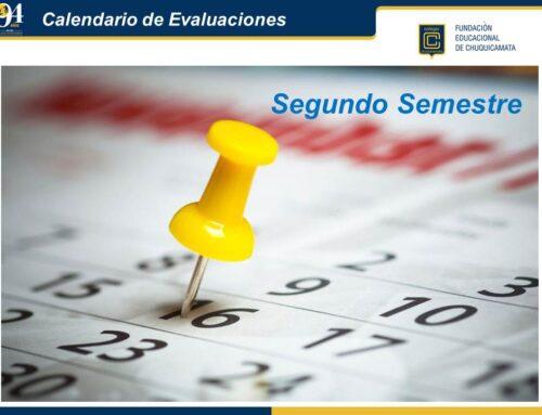 Calendario de Evaluaciones 2° Semestre