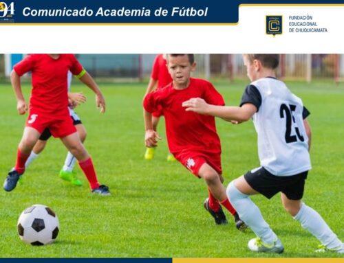 Comunicado Academia de Fútbol