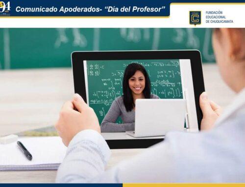 """Comunicado Apoderados – """"Día del Profesor"""""""